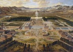 vue du château et des jardins de Versailles, prise de l'avenue de Paris, 1668