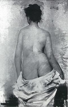 Weiblicher Rückenakt