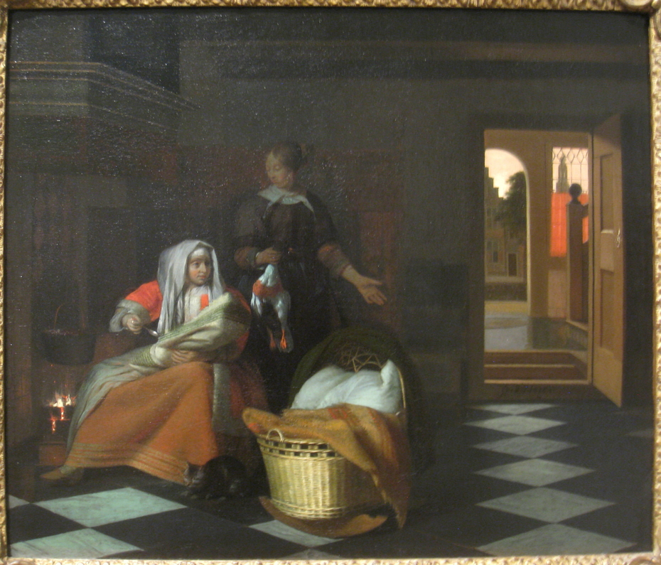 Woman with a Child and a Maid in an Interior