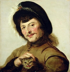 Young Man with a Cat