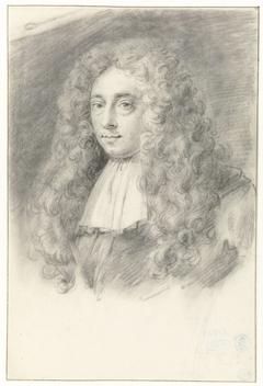 Zelfportret (?) van Constantijn Huygens de Jonge