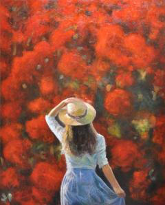 Κοριτσάκι με ψάθινο καπέλο