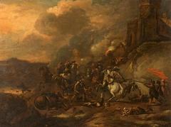 A Cavalry Battle Scene