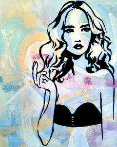 A New Dimension - Original Abstract painting Modern pop Art Contemporary Woman by Fidostudio Pioro