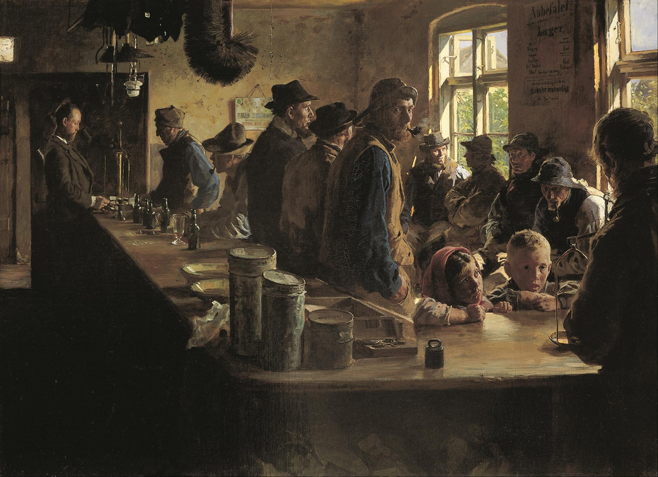 A the victualler's when there is no fishing