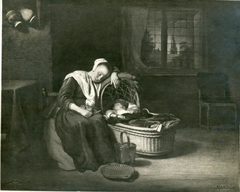 A Woman Dozing over her Apples