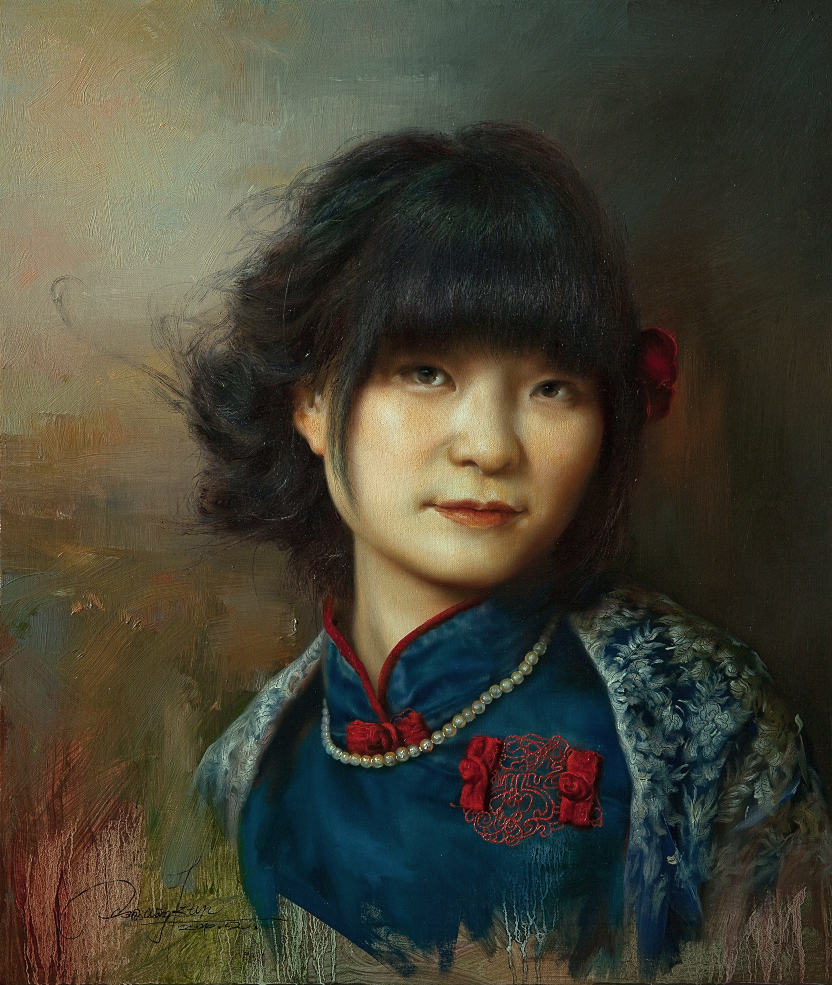 A Young Girl with Shawl