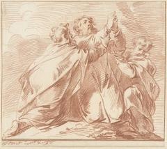 Aäron en Hur stutten Mozes' handen tijdens de strijd van het volk Israël tegen de Amalekieten