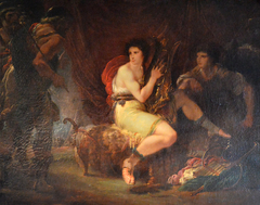 Achilles in his Tent with Patroclus, Playing a Lyre, surprised by Ulysses and Nestor