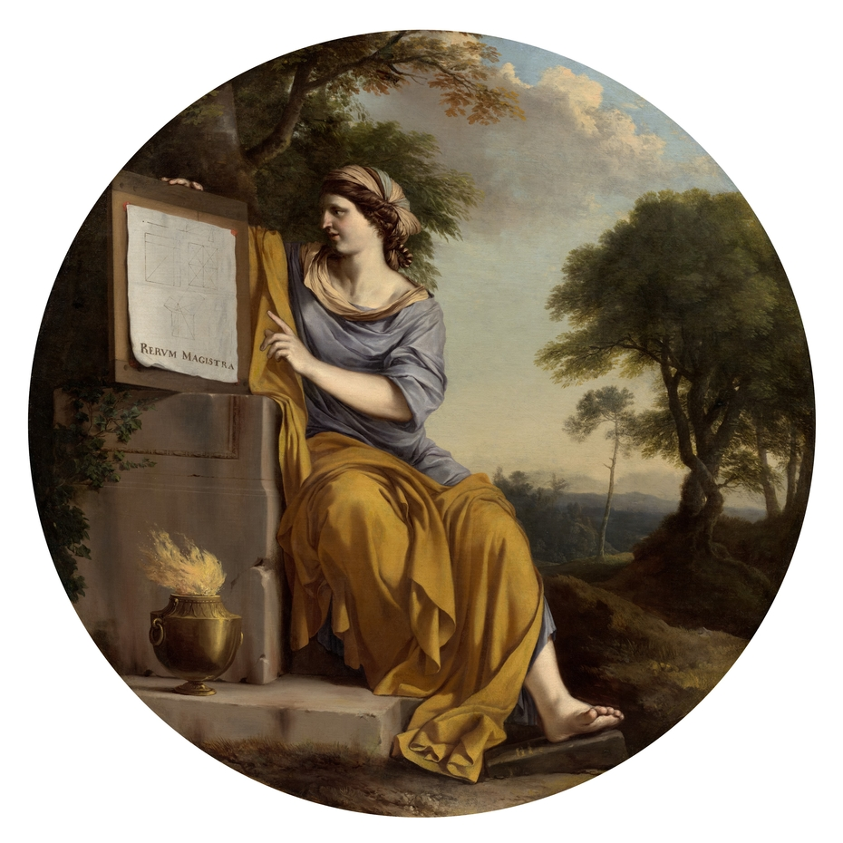Allegory of Scientific Experiment or Allegorical Figure of Geometry