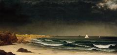 Approaching Storm: Beach near Newport