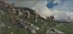 Arabs Ascending a Hill