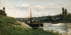 Barge on a River