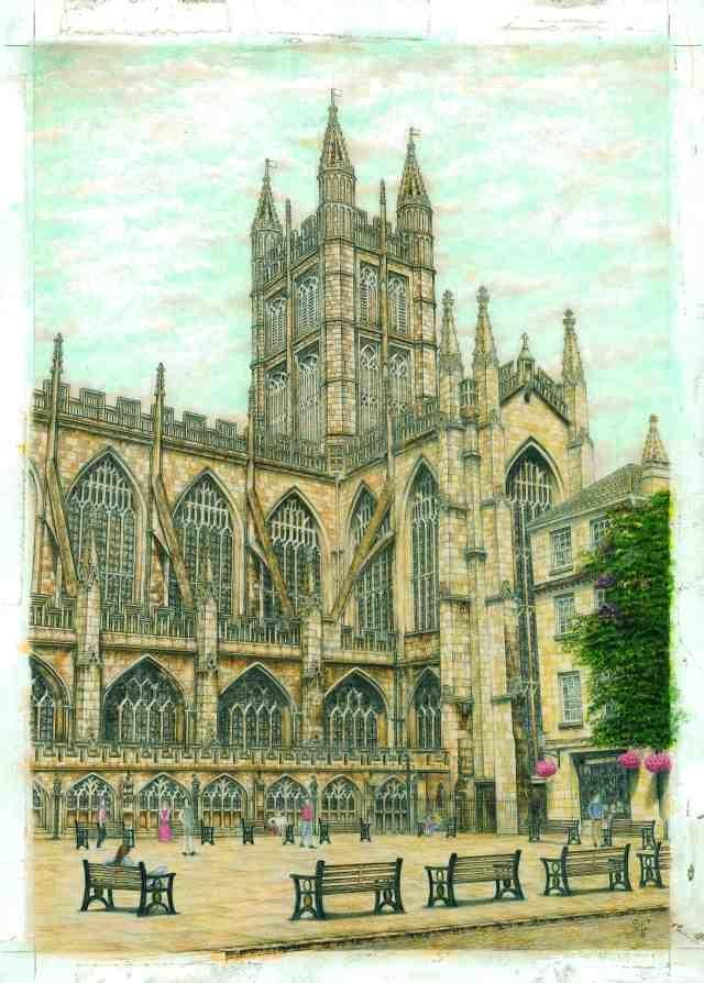 Bath Abbey, The South West prospect