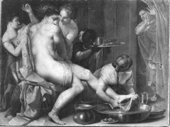 Bathseba im Bade (?) beziehungsweise: Gyges erblickt die Frau des Kandaulus