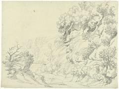 Berglandschap met rotsformaties