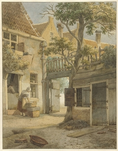 Binnenplaats van een hofje te Amsterdam