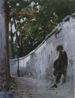 Boy at the Garden Wall, Montmartre