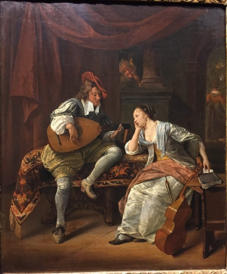 Cavalier Playing a Lute to a Lady ('Lucelle and Ascagnes')