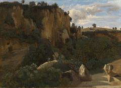 Civita Castellana. Rochers dominant la vallée boisée