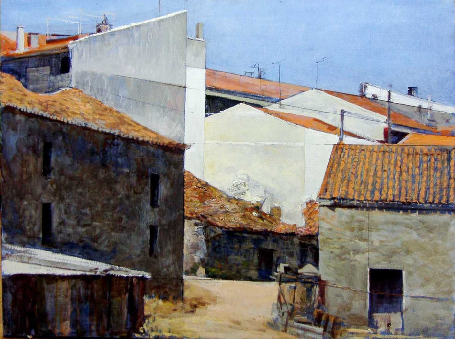 Composition with houses