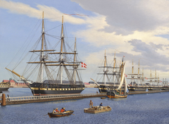 Danish frigates fitting out in the spring of 1849.