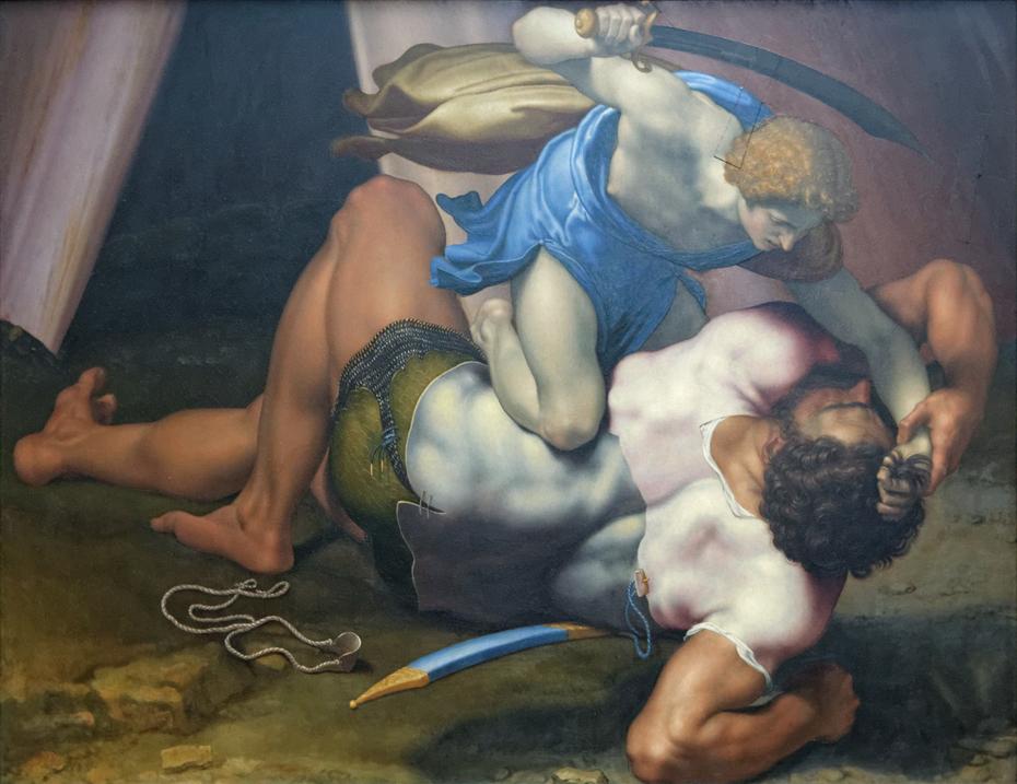 David and Goliath (recto)