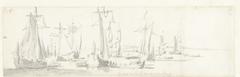 De tocht van de Engelse koning Karel II over de Thames naar Sheerness en Chatham op 27 Augustus 1681