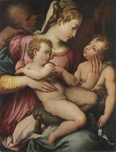 Die Heilige Familie mit kleinen Johannesknaben