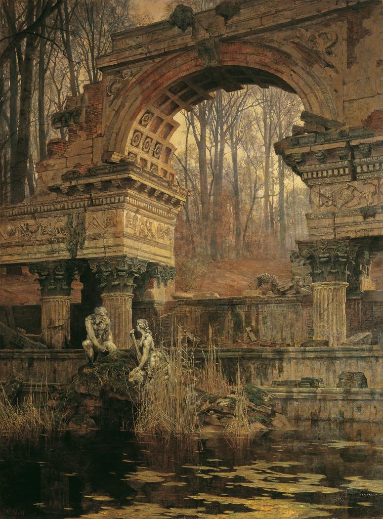 Die Römische Ruine in Schönbrunn