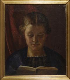 Elisabeth Zahrtmann, kunstnerens søster, læsende