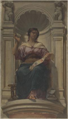 Esquisse pour la coupole du pavillon Denon au Louvre : l'observation (ou l'imprimerie)