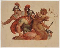 Études de cavaliers antiques, d'après Charles Le Brun