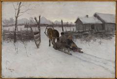 Farm with sleigh
