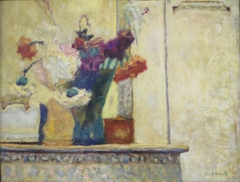 Flowers on a Mantlepiece