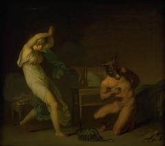 Fotis sees her Lover Lucius Transformed into an Ass. Motif from Apeleius' The Golden Ass