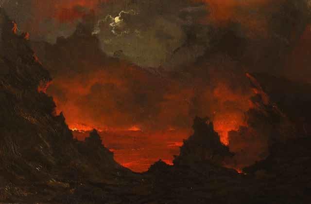 Full Moon over Kilauea