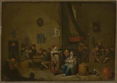 Genre scene in a tavern