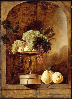 Grapes, Peaches and Quinces in a Niche