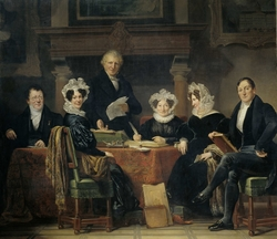 Group Portrait of the Regents and Regentesses of the Lepers' Home of Amsterdam, 1834-35
