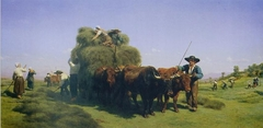 Haymaking in the Auvergne