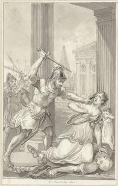 Het gezin van keizer Caius vermoord