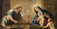 Holy Family with Joseph at the Carpenter's Bench