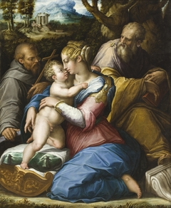 Holy Family with Saint Francis in a Landscape