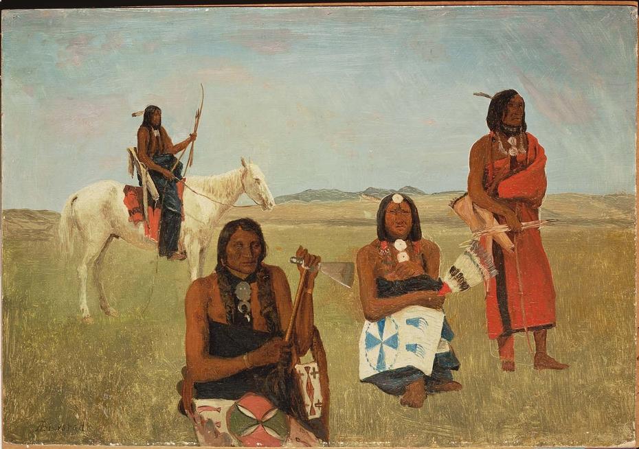 Indians near Fort Laramie