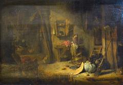 Intérieur d'une cuisine rustique