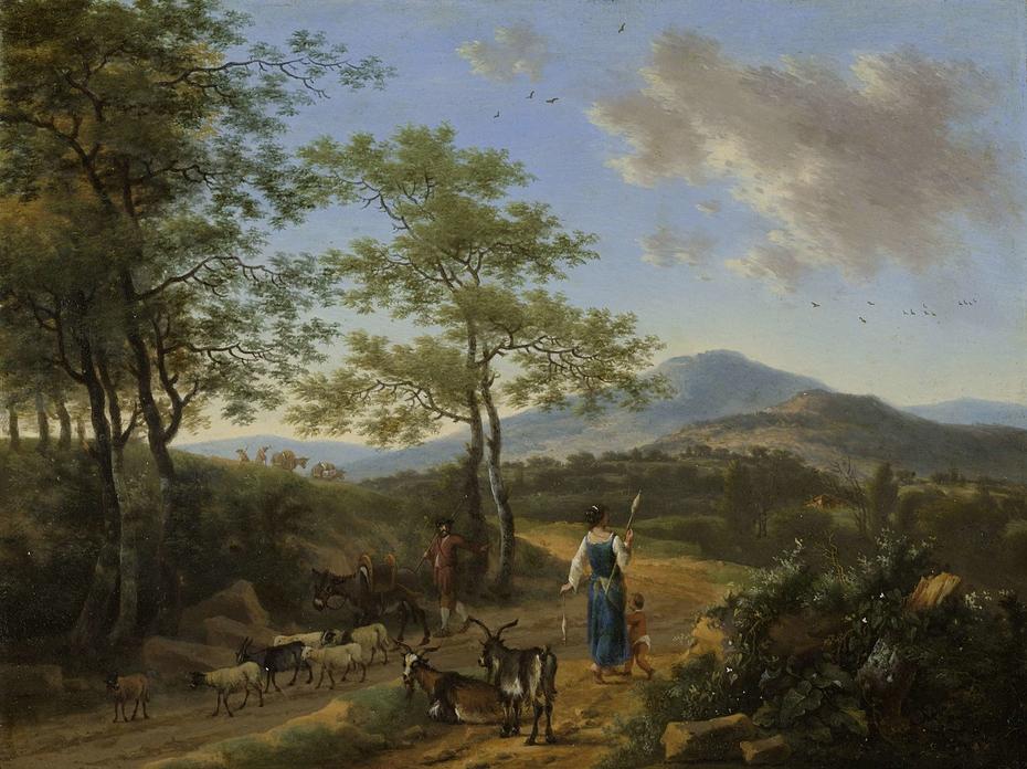 Italian Landscape with Herders