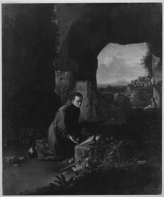 Junger Mönch in einer Höhle (Der hl. Franziskus) (zugeschrieben)