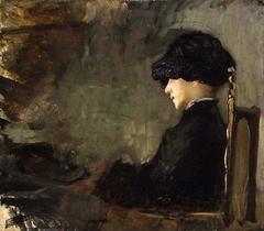 Kunstnerens hustru Nicoline Peterssen, født Gram