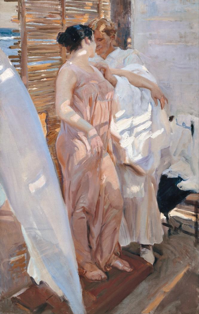 The Pink Robe, After the Bath (La bata rosa)